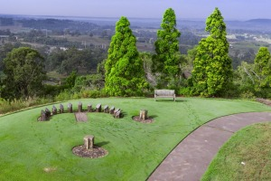 Sundial Hill at Australian Botanic Garden, Mount Annan. It's large enough to drive through, cycle around and provide ...