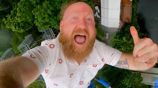 The writer taking the plunge with AJ Hackett bungy jumping.