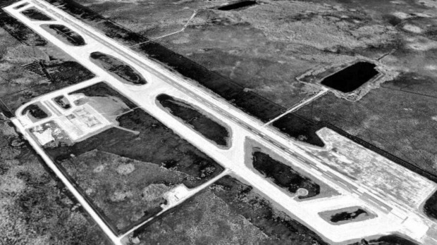 How the 'airport of tomorrow' now lies abandoned in the middle of a swamp