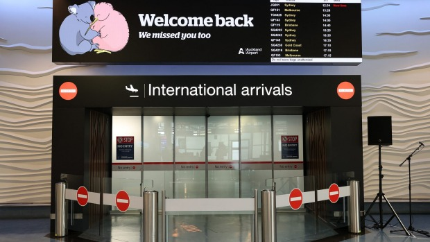 A sign welcomes international arrivals at Auckland Airport. Many of us have been suffering from withdrawal having been ...