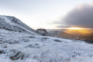 There's a chill in the air: Perisher received early snow in April.