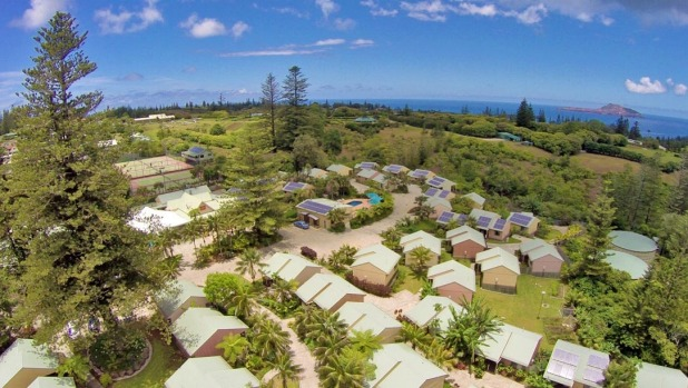 Units at Governor's Lodge, a Norfolk Island country retreat.