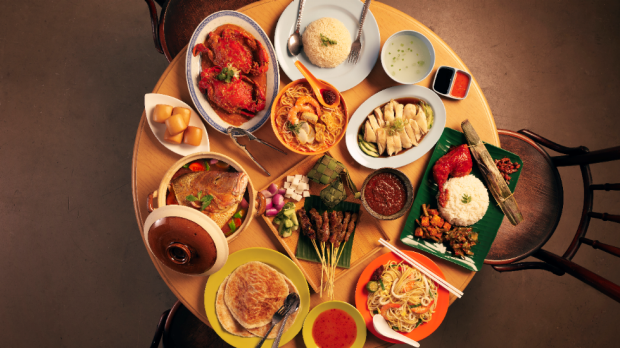 Some of the delicious offerings from Singapore's famous hawker stalls.