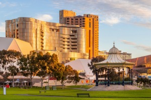 Eos is a glittering beacon in the Adelaide skyline.