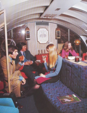 'The lounge was like a lovely bar, it was very comfortable', says Ms Graham of the on-board lounge.