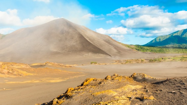 About 20,000 visitors arrive annually at Tanna, primarily to see Mount Yasur.