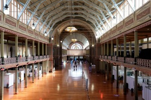 The vaccination hub at Melbourne's Royal Exhibition Centre on April 21, the first day of its opening.