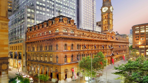 The Fullerton Hotel Sydney in the city's old GPO.