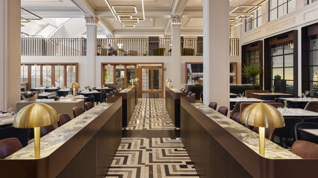 The Hilton's grand atrium-style space is surely one of Australia's most striking hotel public areas. It houses Luci, the ...