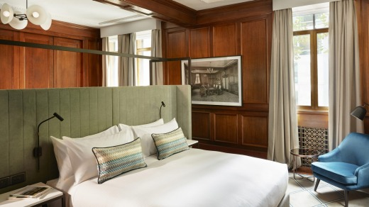 A quintet of stately Manhattan-esque, panelled suites are ready to receive their first guests from June 1.