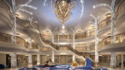 The Grand Hall is a fairytale-inspired atrium (artist's rendering).