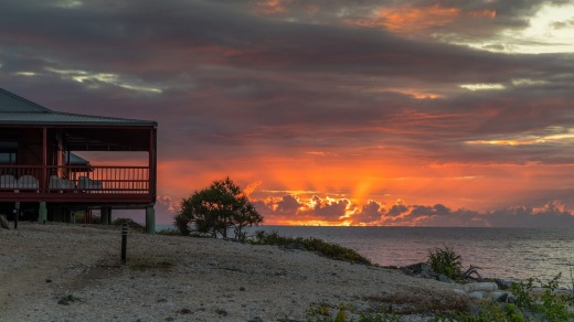The island offers spectacular sunrises and sunsets.