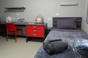 In this former construction workers' camp converted into a quarantine center in Howard Springs, NT, the rooms are ...