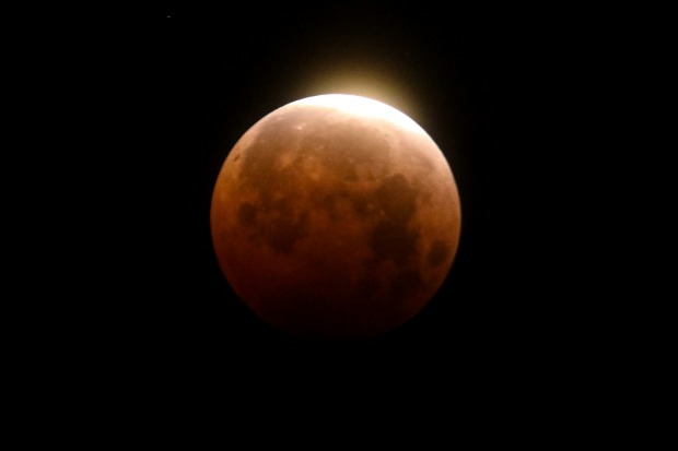 The lunar eclipse took place during a supermoon event.