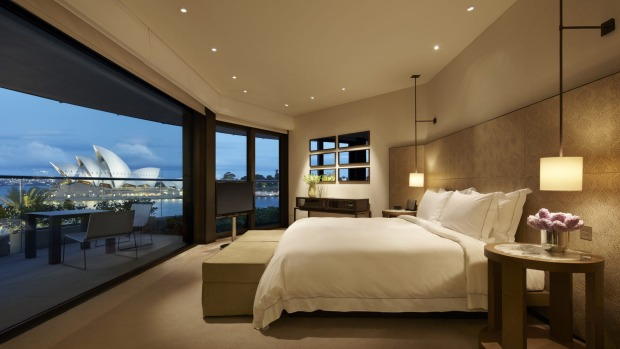 A room with a view of the Sydney Opera House at the Park Hyatt will cost you $2133 on Saturday.