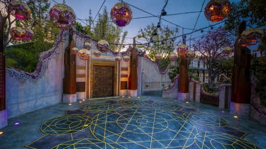 Visitors will encounter several superheroes throughout the campus, including Doctor Strange at the overgrown ruins of an ...