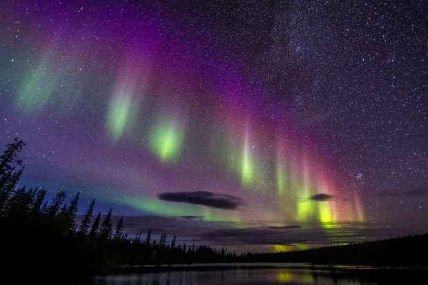 """'Aurora': Marcus Westberg  """"A rare type of Aurora over an alpine lake in northern Sweden, far from any disturbing light ..."""