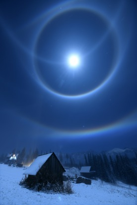 """'Moon Halo': Bartlomiej Jurecki  """"This image was taken late at night and shows a luminous ring surrounding the moon. ..."""