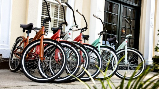 Renting a bicycle is an eco-friendly alternative form of transport.