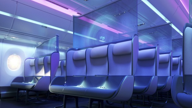 Another design on the awards shortlist aimed to improve social distancing on planes without reducing the overall number ...