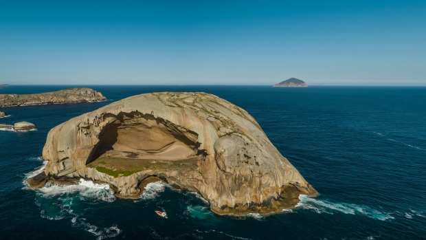 Spanning 130 metres wide, 60 metres high and 60 metres deep,  Cleft Island is so big it could engulf the Sydney Opera ...