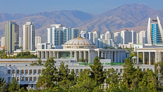 Skyline of Ashgabat, Turkmenistan - the most expensive city in the world.