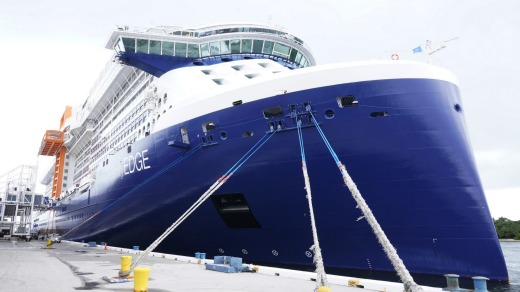The Celebrity Edge at Fort Lauderdale.