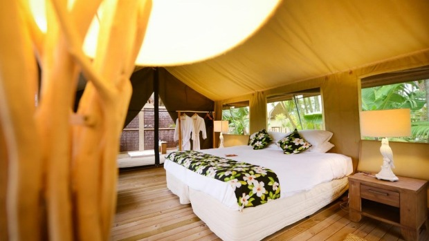 Eco glamping on the Cook Islands.