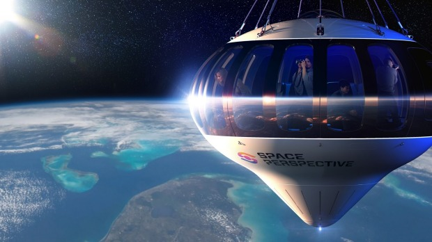 The 198-metre-tall balloon can carry up to eight guests along with the pilot in a capsule that includes a bar and ...  - 1624842905683 - Balloon company offers cheaper flights into space
