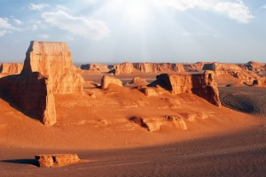Rocky red formations in the Dasht e Lut desert. Nature of Iran. Persia. iStock image for Traveller. Re-use permitted. ...