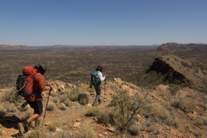 The Larapinta Trail, completed in 2002, winds 223 kilometres across the Tjoritja/Western MacDonnell Ranges National Park.