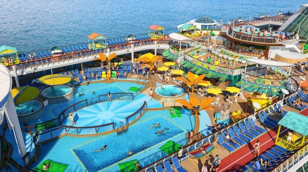 The deck on Freedom of the Seas.