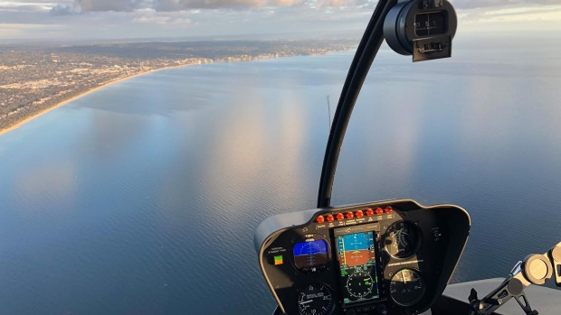 On board with Helicraft in a Melbourne to Mornington Peninsula helicopter experience.
