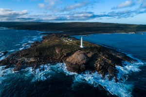 The lighthouse at Cape Leeuwin, the most south-western point of the Australian continent.