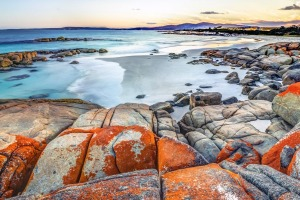 The Bay of Fires on Tasmania's east coast... see the state on a small group tour.