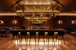 The Captain's Bar, an intimate drinking den with an impressive selection of 60 rums at the Park Hyatt Auckland.
