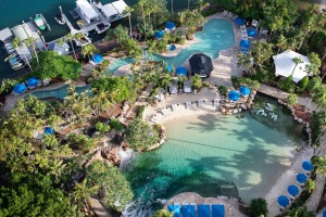 Still the highlight of the resort is its salt water lagoon surrounded by a white sand beach - JW Marriott Gold Coast ...