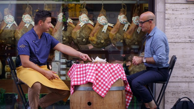 Stanley Tucci in Searching for Italy.