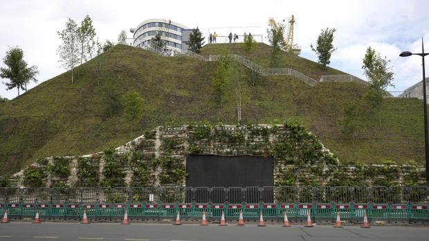 Local officials conceded the project officially known as the Marble Arch Mound is not ready for public viewing and ...