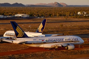 Two Singapore Airlines Airbus A380s stored at Asia Pacific Airline Storage have now left the facility.