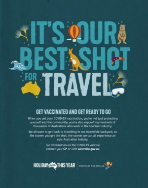 One of the advertisements in Tourism Australia's campaign.