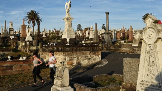Waverley cemetery is the resting place of Dorothea Mackellar and Henry Lawson.