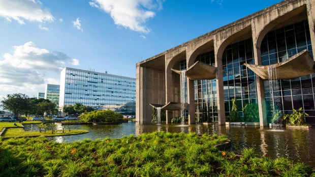 Ministry of Justice, Brasilia, Brazil. Brasília is an intriguing city that is both an architectural masterpiece and ...