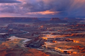 The spectacular Canyonlands from Green River Overlook in Southern Utah.