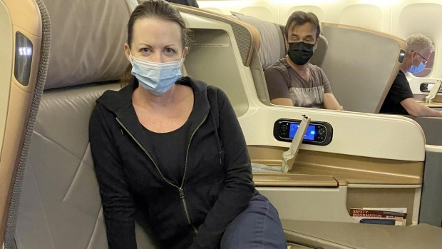 Gaynor Reid and her family spent $22,000 on flights to Australia.