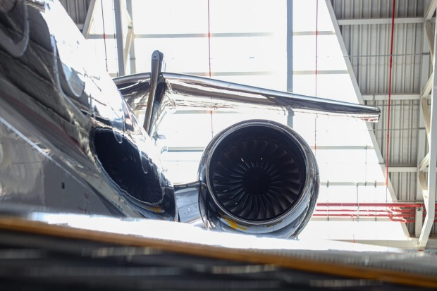 The US-built plane features new Rolls-Royce Pearl 700 engines and can fly 7500 nautical miles (13,890 kilometres) non-stop.