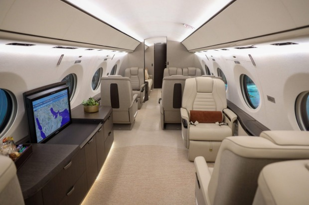 The first version of the $US75 million ($A102 million) jet features an interior designed to Qatar's specifications.