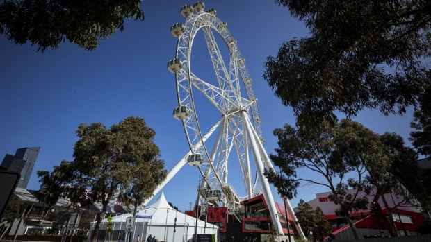 The Melbourne Star Observation Wheel on Monday.