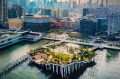 The new 1.1 hectare floating Little Island park on the Hudson River.