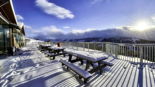 Mount Hotham. It has been a stop/start season for Victoria's ski resorts due to lockdowns.
